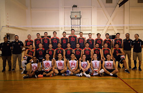 Group photo for Men's Volleyball