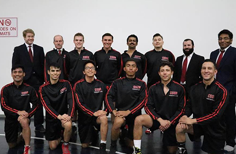 Group photo for Men's Wrestling