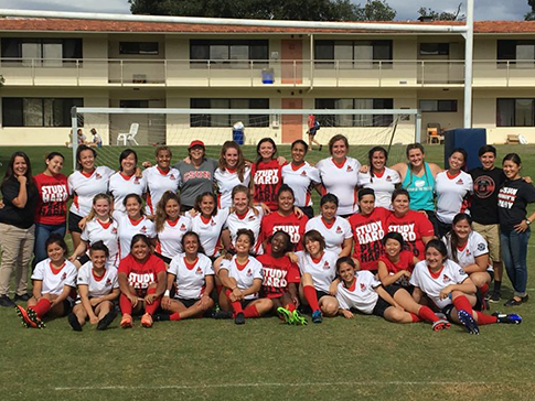 Group photo for Women's Rugby