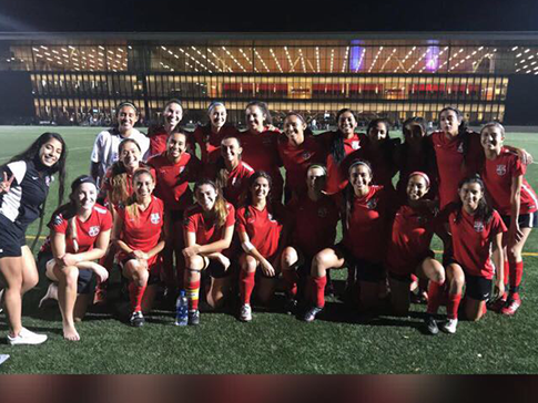 Group photo for Women's Soccer