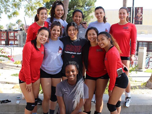 Group photo for Women's Volleyball