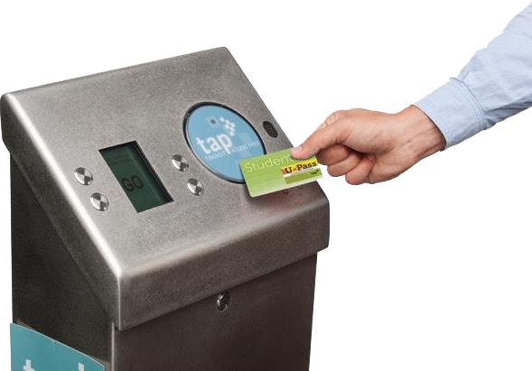 Tap your card on Metro's Tap stations